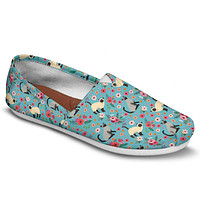 Siamese Cat Flower Casual Shoes-Clearance