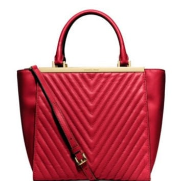Michael Michael Kors Lana Quilted Leather Medium Tote
