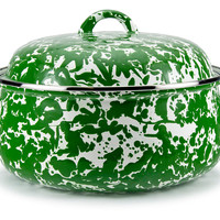 Swirl Dutch Oven, Green, Covered Serving Dishes & Tureens