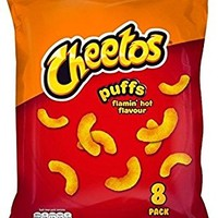 Cheetos Flamin Hot 8 Pack Crisps 8 x 13g - Pack of 6