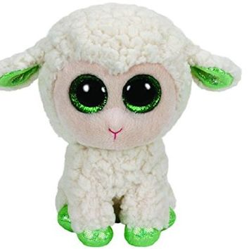 Ty Beanie Boo Lala White Lamb Medium Plush