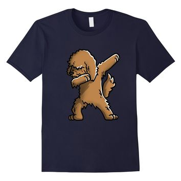 Dabbing Goldendoodle Funny Dog T Shirts - Birthday Gift