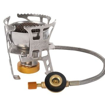 ONETOW Ship From US&CN Camping stove Separate Windproof Camping Hiking Cooking Equipment Butane Fuel High Stainless Iron Aluminum Alloy