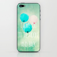 i love you to the moon and back iPhone & iPod Skin by Sylvia Cook Photography | Society6