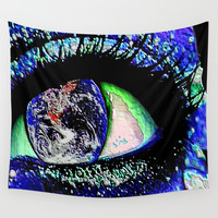World View Wall Tapestry by JT Digital Art