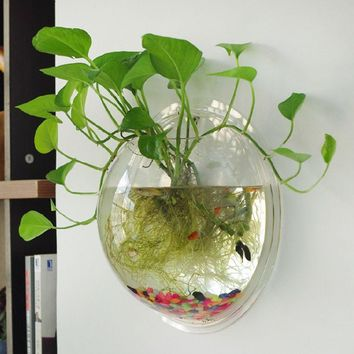 New Hanging Flower Pot Glass Ball Vase Fish Tank Aquarium Container