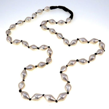 Large Sterling Silver Beads Long Necklace