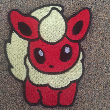 Pokemon Flareon Iron on or sew on Patches