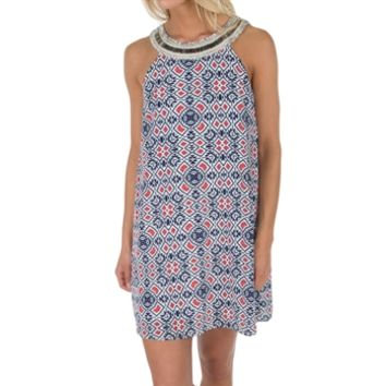 As U Wish Juniors Cleo-Neck Printed Dress at Von Maur
