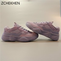 INS superstar kanye 500 Women's dad Sneakers Fashion Basket Women Platform Tenis Feminino Lace Up Woman Trainers Chaussure Femme