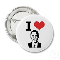 I Love Obama Pin from Zazzle.com