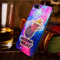 Miami heat on galaxy nebula  -  iPhone 4 / iPhone 4S / iPhone 5 / samsung s2 / samsung s3 / samsung s4 Case Cover