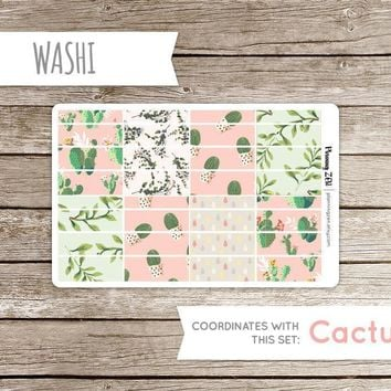 Painted Cactus Washi Strips Vinyl Planner Stickers for use with EC Vertical Planners