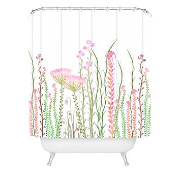 Monika Strigel Grasshoppers Paradise Shower Curtain