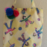 Girls Clown Design Bag