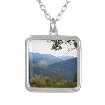 Calabria Panorama Silver Plated Necklace