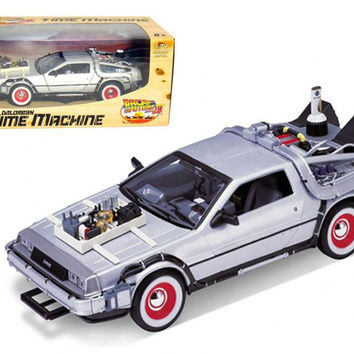 """Delorean From Movie """"Back To The Future 3"""" 1-24 Diecast Car by Welly"""