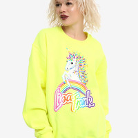 Lisa Frank Rainbow Mischief Unicorn Girls Sweatshirt