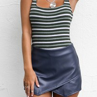 The Life Navy Wax Envelope Skort