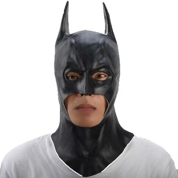 The Batman Mask Adult Halloween Mask Full Face Movie Cosplay Costume Mask Realistic Men's Latex Party Mask