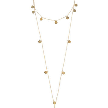 Arme De L'Amour - Layered Pendant gold-plated necklace