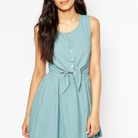 Lovestruck Pippa Shirt Dress with Tie Front at asos.com