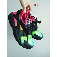 Nike Huaraches men and women tide brand rainbow super breathable shoes fashion multicolored sneakers