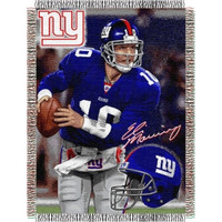 "Eli Manning #10 New York Giants NFL Woven Tapestry Throw (48""x60"")"