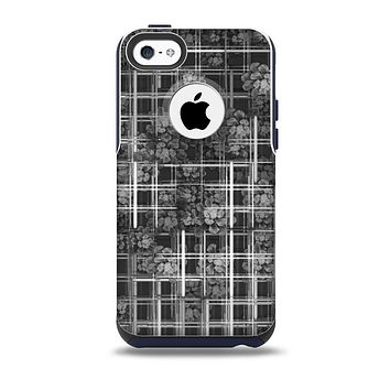 The Grayscale Lattice and Flowers Skin for the iPhone 5c OtterBox Commuter Case