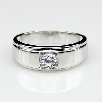 Men's 9KT White Gold Lab Grown .30 Diamond Ring