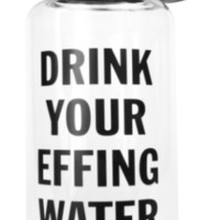 Drink Your Effing Water 40 oz Large Water Bottle