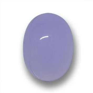 23.04 ct  Oval Cabochon Lavender Blue Chalcedony 19.2 x 14.3 mm