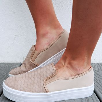 Stepping Into Spring Sneakers: Dusty Taupe