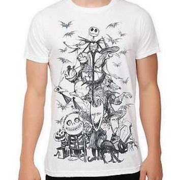Licensed cool THE NIGHTMARE BEFORE CHRISTMAS JACK SKETCH TEE T-SHIRT UNISEX DISNEY TIM BURTON