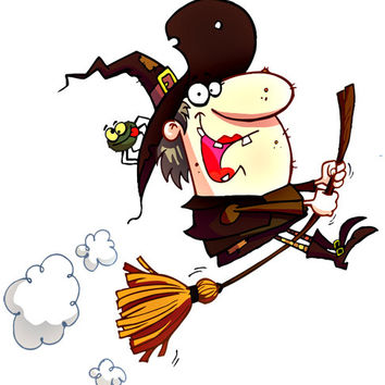 Witch Image, Funnyy Witch Image, Scary Witch Image,Broom Hilda Cutout,Witch,Transparent Cutout, Wall Décor, Teen Room,Teen Décor, Home Décor
