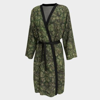 Peignoir Robe Earth Scale Print