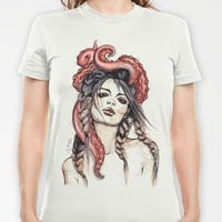 Octopus T-shirt by Nora Bisi | Society6
