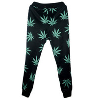 New Harajuku women/men black weed leaf joggers pants 3D print sport sweatpants full length Outdoor jogging trousers pantalones joggers