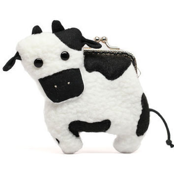 Little dairy cow clutch purse by misala on Etsy