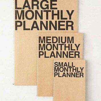 Poketo Medium Monthly Planner Notebook- Brown M