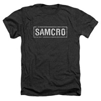 Sons Of Anarchy Men's  Samcro T-shirt Charcoal Rockabilia