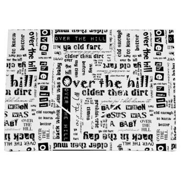 Over the Hill Funnies 01 White-Large Gift Bag