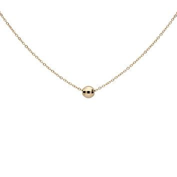 Solid Gold Faceted Mirror Ball Necklace