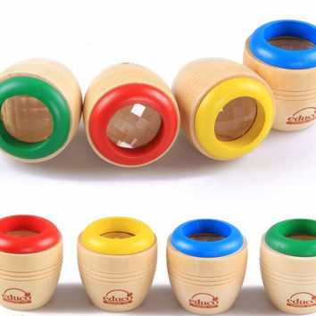 2016 new Wooden Educational Magic Kaleidoscope Baby Kid Children Learning Puzzle Toy Classic Toys wooden toys hot toy
