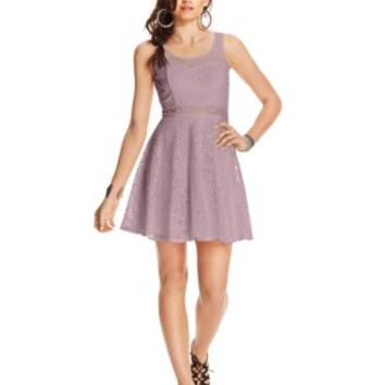 American Rag Lace Illusion Skater Dress, Only at Macy's | macys.com