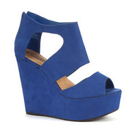 Blue Strap Cage Wedges