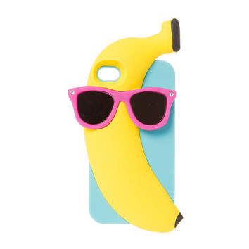 Banana Wearing Sunglasses Cover for iPhone 4 and 4s