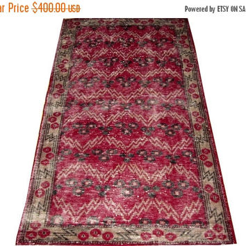 ON SALE Traditional Design Turkish Vintage Rug 6'2'' x 3'7''  Free Shipping