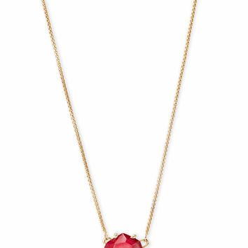 Ethan Gold Pendant Necklace In Red Pearl | Kendra Scott
