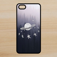 Saturn Astronauts Space Art Phone Case iPhone 4 / 4s / 5 / 5s / 5c /6 / 6s /6+ Apple Samsung Galaxy S3 / S4 / S5 / S6